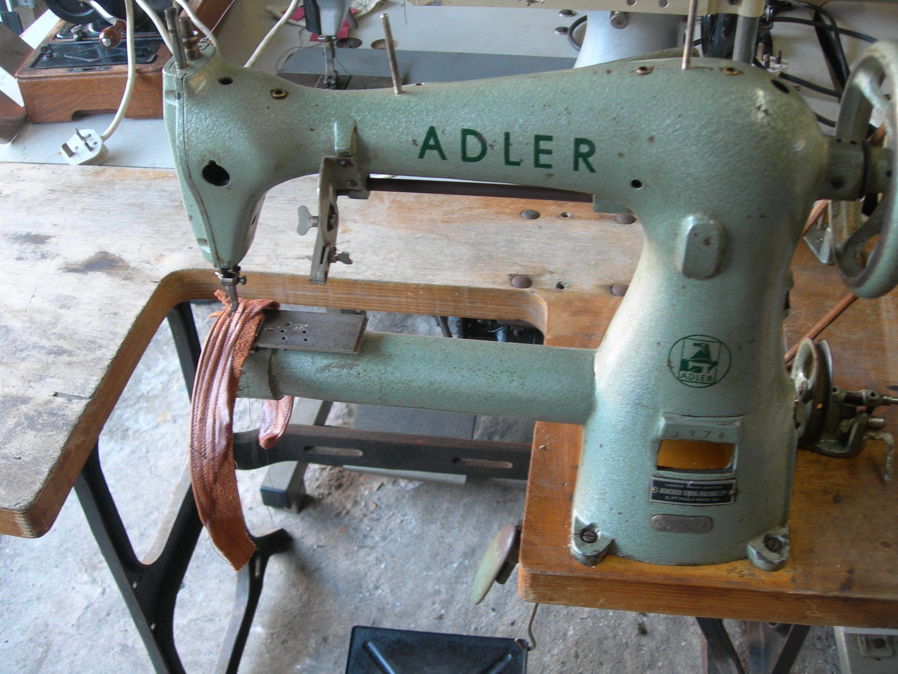 adler cylinder arm sewing machine